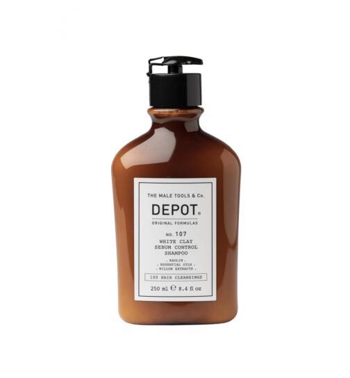 DEPOT No. 107 White Clay Sebum Control Shampoo 250ml