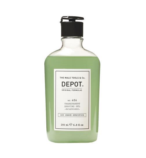 DEPOT No. 406 Transparent Shaving Gel . brushless 200ml