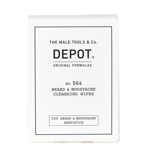 DEPOT No. 504 Beard & Moustache Cleansing Wipes 12Stk